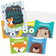 "Creative Teaching Press Woodland Friends Lesson Plan Book & 9""x12"" Library Pocket Organizers Combo (CTP8912)"