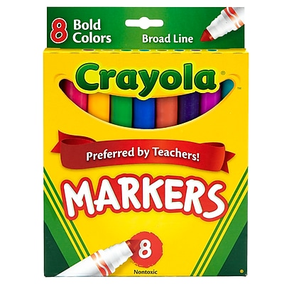 Coloring Marker Bold Conical 8p, Assorted. Sold as a set of 6, each box has 8 markers for a total of 48 (BIN7732)