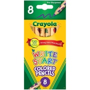 Crayola Write Start 8ct colored pencils, Assorted colors. 8 ct per box, sold as a set of 6 boxes for a total of 48. (BIN684108)