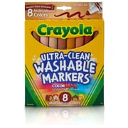 Crayola Multicultural Washable Markers 8PK Conical Tip. Sold as a set of 6, each pack has 8 markers for a total of 48 (BIN7801)