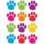 "Ashley Productions Die-Cut Magnets, Colorful Paws, 2.75"", 12 per sheet (ASH10057)"