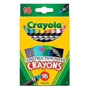 Crayola 16ct Crayons for Construction Paper, Asst Colors, Sold as a set of 6, each box has 16 crayons(BIN525817)
