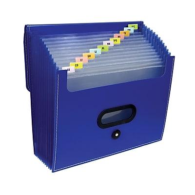 C-Line® 13-Pocket Ladder Expanding File, blue (CLI48015)