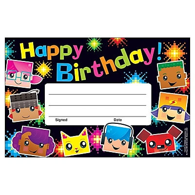 Trend Birthday BlockStars!™ Recognition Awards, 30 per Pack, Bundle of 12 Packs (T-81070)