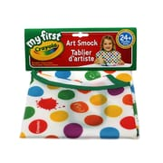 Crayola Art Smock, Multicolor, 24 months plus, Sold as a set of 6 (BIN690141)