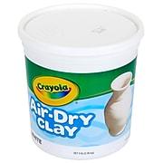 """Crayola Air Dry Clay 5lbs White, BIN575055, 6"""" x  6"""""""