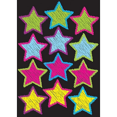 Ashley® Die-Cut Magnets, Scribble Stars, 12/Pack (ASH10086)