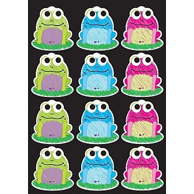 Ashley Productions Die-Cut Magnets, Scribble Frogs, 2.75