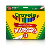 Crayola Markers 12ct Asst Colors. Sold as a set of 6, each box has 12 markers for a total of 72 (BIN587712)