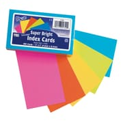 Pacon Corporation Super Bright Index Cards, Assorted, 600/Set(PAC1720)