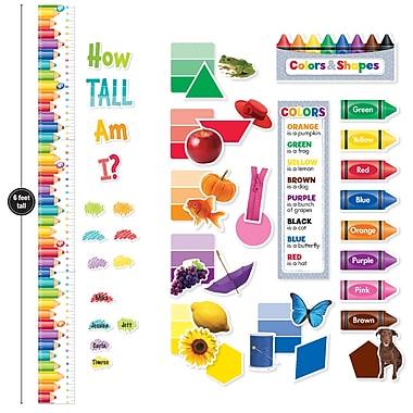 Creative Teaching Press Colors & Shapes Growth Chart Mini Bulletin Board Pack, 21