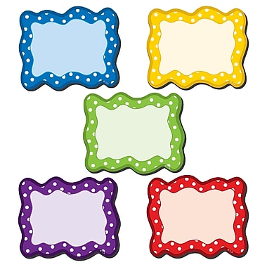 Teacher Created Resource Polka Dots Blank Cards Magnetic Accents, Assorted colors, 3