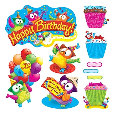 Trend Owl-Stars!® Birthday Bulletin Board Set, 57 Pieces (T-8366)