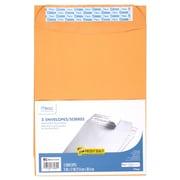 Mead Press It Seal It, 9 x 12 Envelopes, Brown, 5ct per pk, 24 pks per bundle, total 120 envelopes (MEA76080)