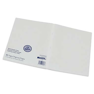 Pacon® Beginner Sketch Booklet, blank sheets, 8.5