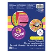 "Pacon Brights Premium Tagboard, 8.5"" x 11"" Assorted Colors, Bundle of 3 Packs, 50 Sheets Per Pack (PAC101161)"