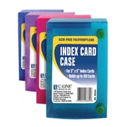 C Line 3x5 Index Card Case, Assorted, Sold as a set of 24, (CLI58335)