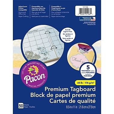 Pacon Parchment Tagboard, 8.5