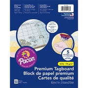 "Pacon Parchment Tagboard, 8.5""x 11"" Assorted Colors, Bundle of 3 packs, 50 Sheets Per Pack (PAC101166)"