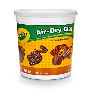 Crayola Air Dry Clay 5lb Tub Terra, BIN572004, 6