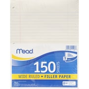 "Mead Refill Paper, Wide Rule, 8"" x 10.5"", 1800/Set (MEA15103)"