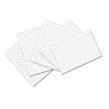 Cards Index Ruled 3 x 5 100ct, White, Sold as a set of 36 packs, each pack has 100 cards, for a total of 3600. (MEA63350)