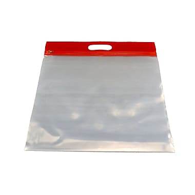 Zipfile Storage Bags 25PK, Red, 14