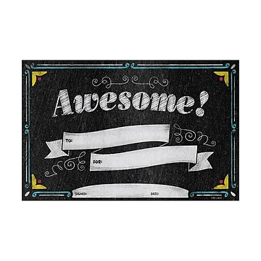 Creative Teaching Press® Chalk It Up! Awesome! Small Award, 30 per Pack, Bundle of 6 (CTP1315)