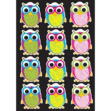 Ashley Productions Die-Cut Magnets, Scribble Owls, 2.75