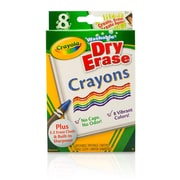 Crayola Dry Erase Crayons 8 count Washable. Sold as a set of 6, each pack has 8 markers for a total of 48 (BIN985200)