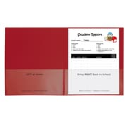 C-Line Red 25ct Classroom Connector School to Home Folders, 2 Pocket (CLI32004)