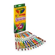 24 CT Erasable Colored Pencils, Assorted, Sold as a set of 3 packs, each pack has 24 colored pencils(BIN682424)