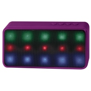 Lryix Prysm Portable Bluetooth Wireless Speaker with 15 LED Lights and Built-in Microphone Support Hands-Free Function - Purple