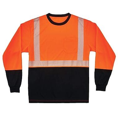 GloWear® 8281BK Type R Class 2 Black Front Performance Long Sleeve T-Shirt, 3XL, 1 pack (22687)