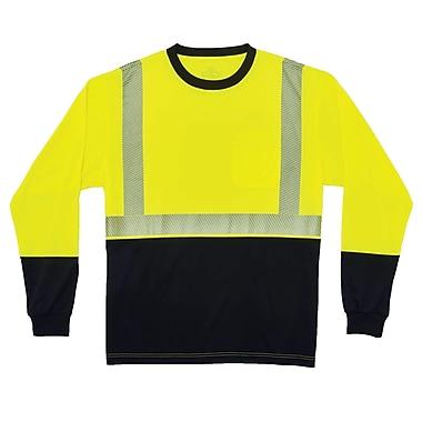 GloWear® 8281BK Type R Class 2 Black Front Performance Long Sleeve T-Shirt, XL, 1 pack (22635)