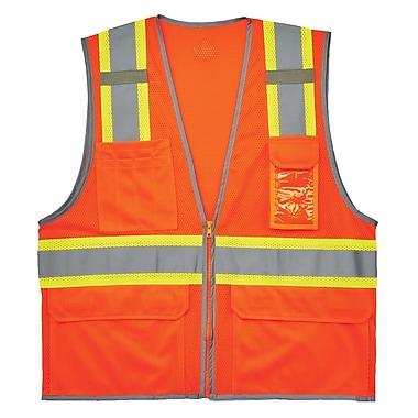 GloWear® 8246Z Type R Class 2 Two-Tone Mesh Vest w/ Reflective Binding, S/M, 1 pack (24133)