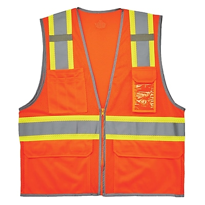 GloWear® 8246Z Type R Class 2 Two-Tone Mesh Vest w/ Reflective Binding, S/M, 1 pack (24133)