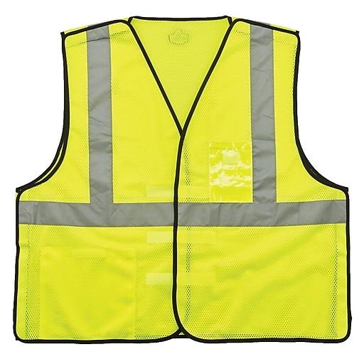 GloWear® 8216BA Type R Class 2 Breakaway Mesh Vest w/ ID Badge Holder, L/XL, 1 pack (21095)