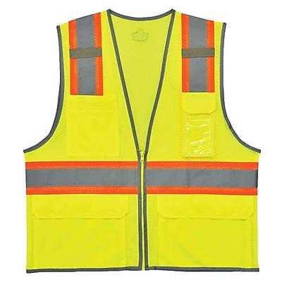 GloWear® 8246Z Type R Class 2 Two-Tone Mesh Vest w/ Reflective Binding, L/XL, 1 pack (24145)