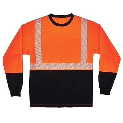 GloWear® 8281BK Type R Class 2 Black Front Performance Long Sleeve T-Shirt, S, 1 pack (22682)