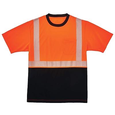 GloWear® 8280BK Type R Class 2 Black Front Performance T-Shirt, 5XL, 1 pack (22589)