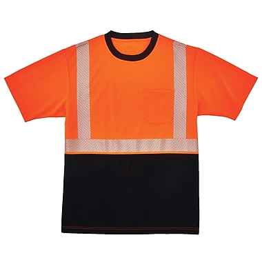 GloWear® 8280BK Type R Class 2 Black Front Performance T-Shirt, M, 1 pack (22583)