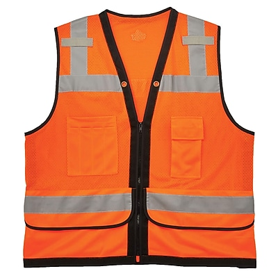GloWear® 8253HDZ Type R Class 2 Heavy-Duty Mesh Surveyors Vest, L/XL, 1 pack (23315)