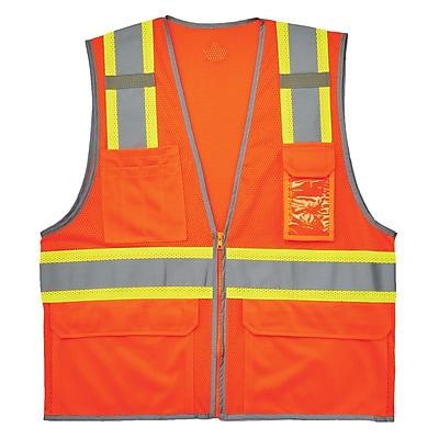 GloWear® 8246Z Type R Class 2 Two-Tone Mesh Vest w/ Reflective Binding, 4XL/5XL, 1 pack (24139)