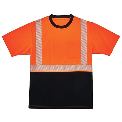 GloWear® 8280BK Type R Class 2 Black Front Performance T-Shirt, 3XL, 1 pack (22587)