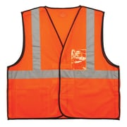 GloWear® 8216BA Type R Class 2 Breakaway Mesh Vest w/ ID Badge Holder, L/XL, 1 pack (21085)