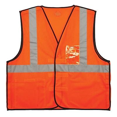 GloWear® 8216BA Type R Class 2 Breakaway Mesh Vest w/ ID Badge Holder, L/XL, 1 pack (21085)