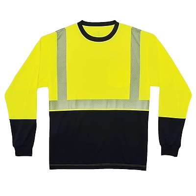 GloWear® 8281BK Type R Class 2 Black Front Performance Long Sleeve T-Shirt, 2XL, 1 pack (22636)