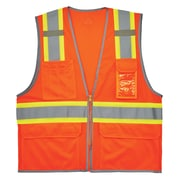 GloWear® 8246Z Type R Class 2 Two-Tone Mesh Vest w/ Reflective Binding, 2XL/3XL, 1 pack (24137)