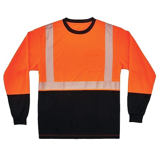 GloWear® 8281BK Type R Class 2 Black Front Performance Long Sleeve T-Shirt, M, 1 pack (22683)